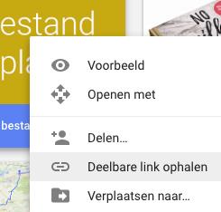 Google drive - bestanden delen met downloadlink