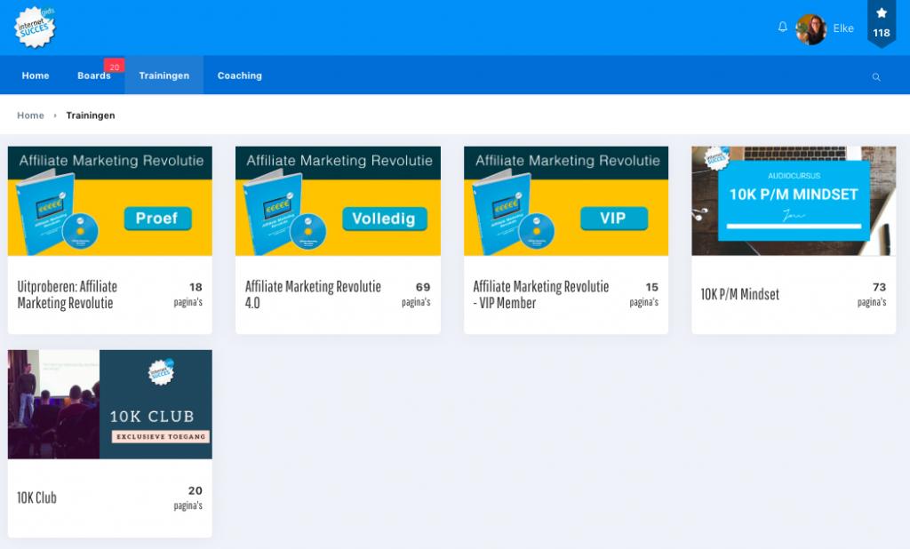 Trainingen internet succes gids met de affiliate marketing revolutie