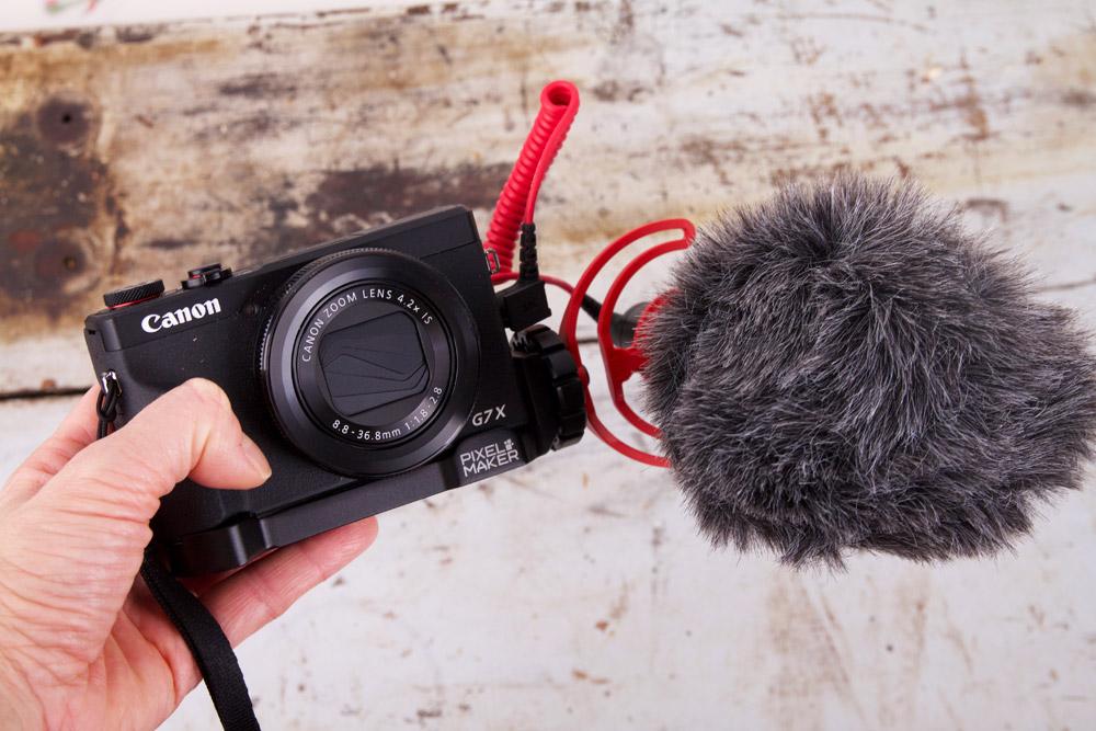 Canon powershot G7X Mark III + Rode videomicro
