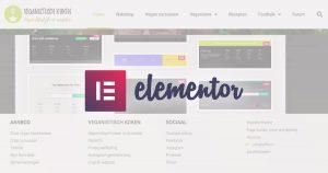 Header en footer aanmaken met de builder van Elementor - tutorial