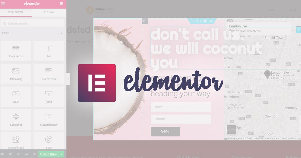Popups maken met Elementor - tutorial
