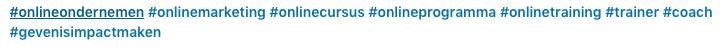 Hashtags in Linkedin bericht