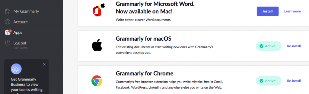 Grammarly apps - review