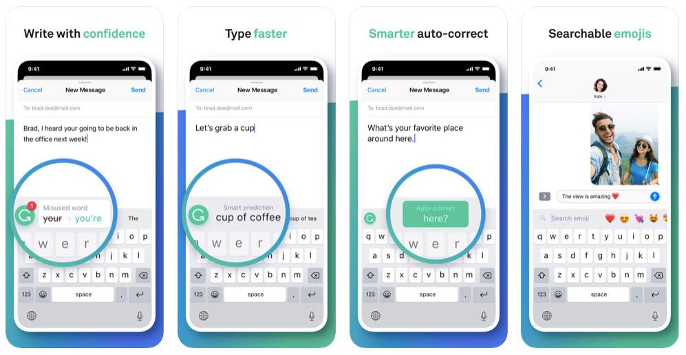 Grammarly keyboard voor iphone
