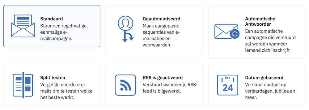 e-mail maken in ActiveCampaign