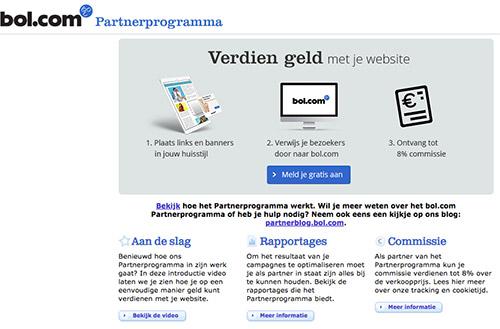 Aanmelden partnerprogramma Bol.com