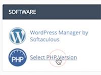 PHP versie wijzigen