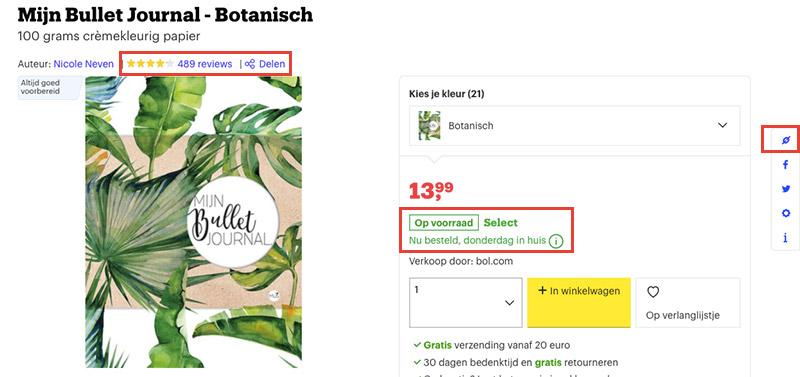 Product van bol.com promoten