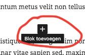 Blok toevoegen in WordPress