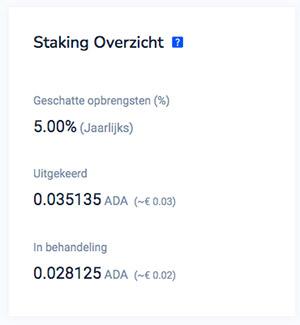 Crypto staking - rendement verdienen