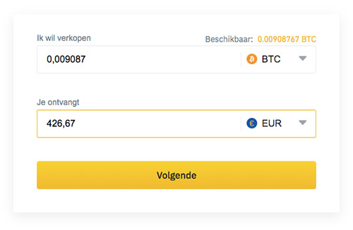 Crypto verkopen Binance