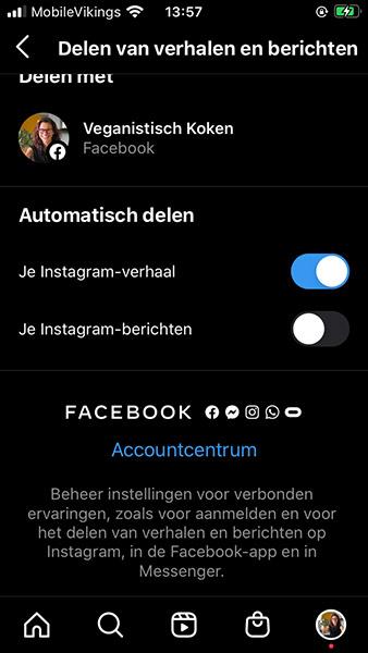 Bedrijfsprofiel Instagram koppelen aan Facebook