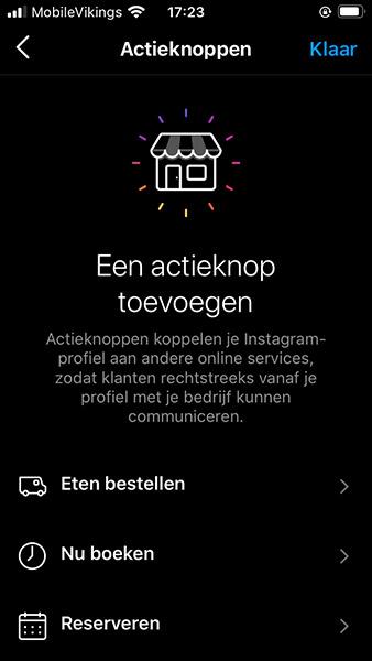 Actieknop instagram