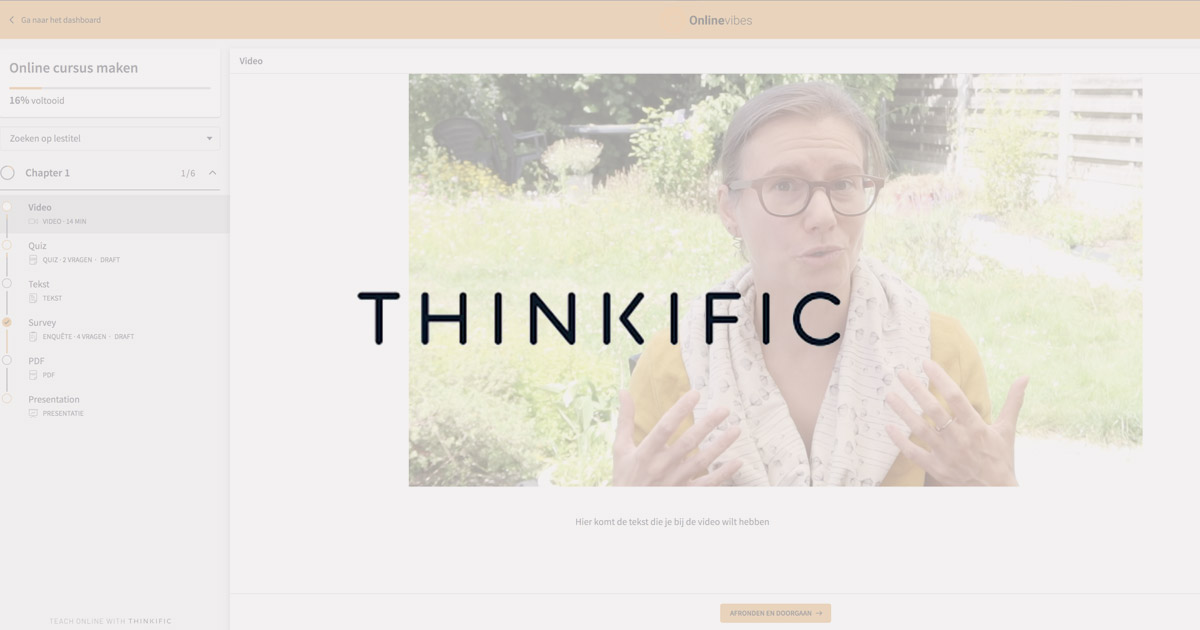 Thinkific review Nederlands