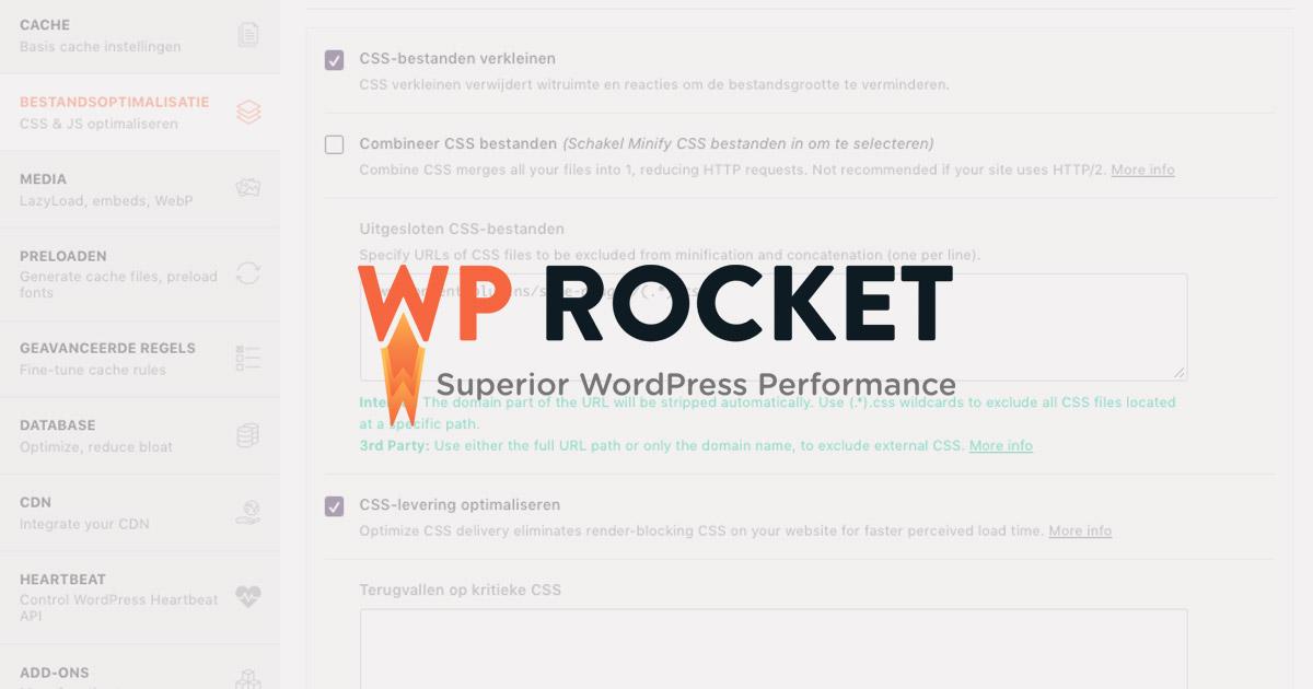 WP Rocket review - cache plugin voor wordpress sneller